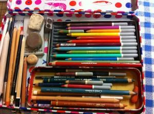 crayons pastels